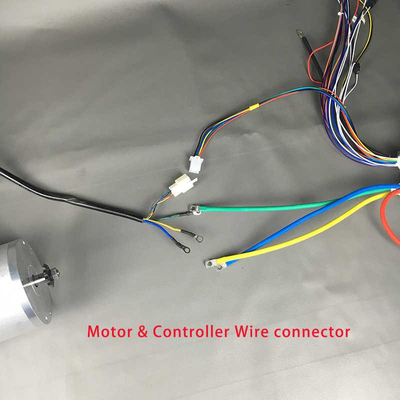 Moteur sans brosse de vélo électrique à grande vitesse de moteur de cc 72V 3000W kiti avec le contrôleur sans brosse de BLDC pour des accessoires électriques de Scooter