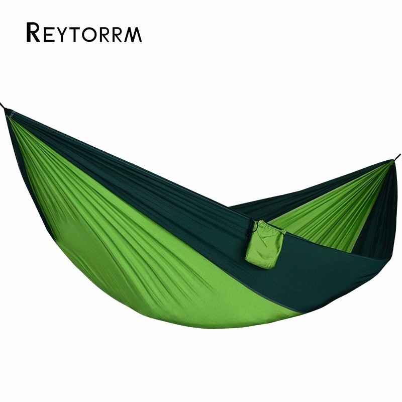 Nylon Fabric Hammock 1-2 Person Outdoor Gear Relax Hanging Hamak Swing Travel Lightweight  Hamac 2 Carabiners 2 Straps Included