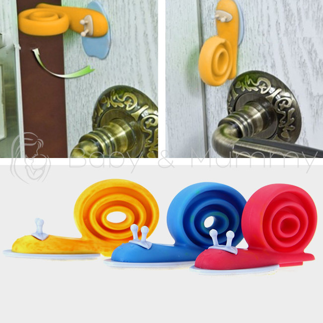 3pcs Baby Kids Safety Stopper Lock Door Stoppers Soft Plastic Snail Cartoon Animal Shape Door Stops Holder lock Finger Protector