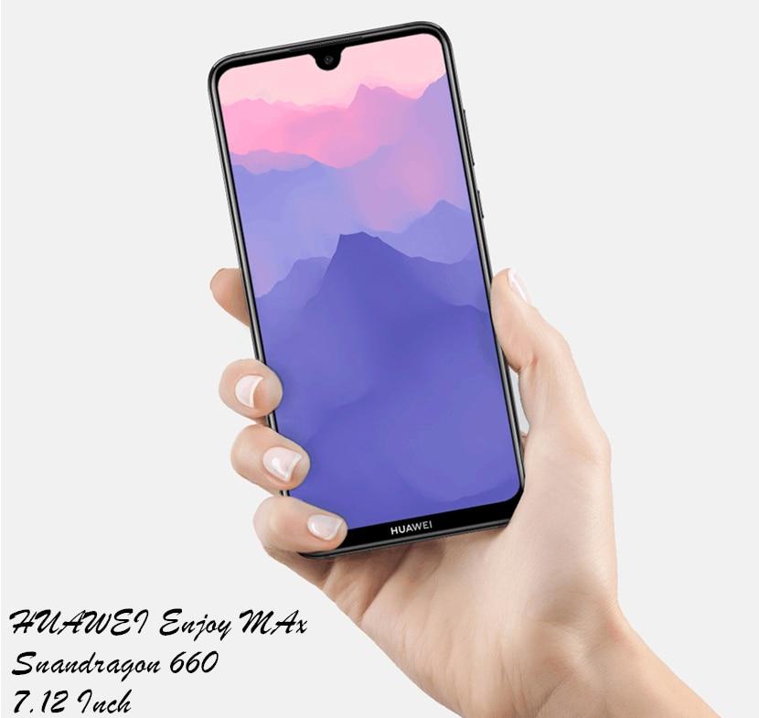Huawei наслаждаться Макс смартфон 4 ГБ Оперативная память 128 ГБ Встроенная память Snapdragon 660 Octa core Две задних камеры 7,12 дюймов 5000 мАч сотовый телефон
