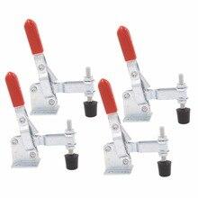 4 stücke 102B Vertikale Typ Toggle Clamp Hand Werkzeug Halten Kapazität 100 kg U Form Bar Rot Handgriff Toggle Leuchte clamp