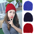 The supply of Korean winter with cashmere woolen hat adult fashion ladies knitted hats wholesale all-match warm