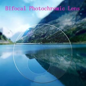 Image 3 - אינטליגנטי Photochromic דו מוקדי משקפי קריאת זכוכית מגדלת יוניסקס קורא משקפי שמש מראה ליד רחוק אורז נייל Presbyopic Gafas D5