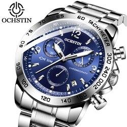 Marca superior esportes relógio de pulso ochstin militar masculino relógios à prova dwaterproof água moda aço inoxidável relógio masculino