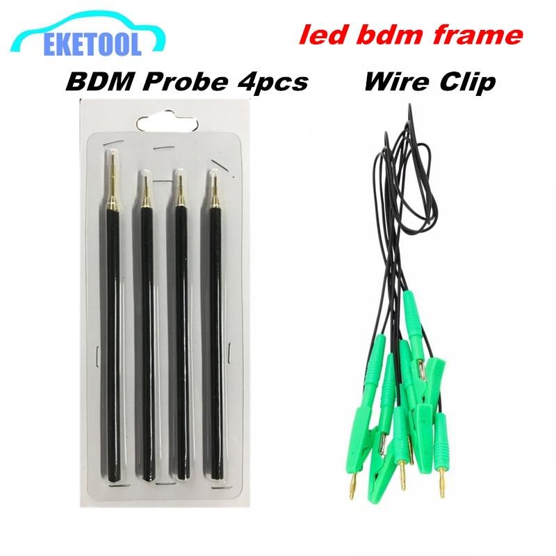 ECU Power Sonde Pin 4 teile/satz Grün Draht Kabel Funktioniert BDM Rahmen Pin Verwendet Zusammen Mit Edelstahl BDM Rahmen Ersatz