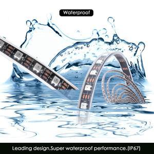 Image 5 - WS2812B DC 5V LED bande RGB 50CM 1M 2M 3M 4M 5M 30/60/144 LED s Smart adressable Pixel noir blanc PCB WS2812 IC 17Key Bar