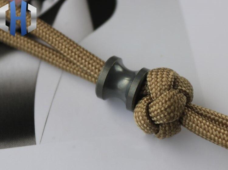Paracord Beads Titanium Alloy Umbrella Rope Pendant EDC Tool Hanging Decoration Keychain Pendant Paracord Beads Knife Beads in Knives from Tools