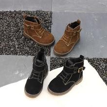 2018 детская ботинки «мартенс» дети снег загрузки-slipwinter детские плюшевые сапоги Переохлаждаться мотоциклетные ботинки молния детская теплая обувь От 1 до 8 лет