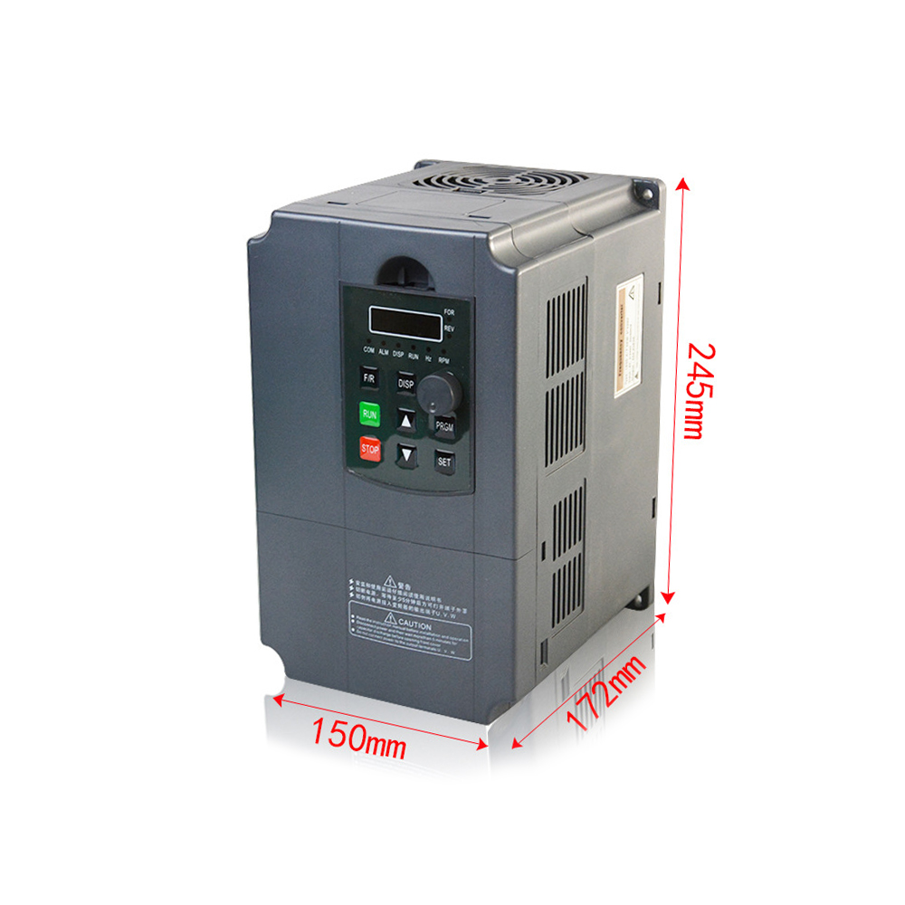 220V 7.5KW Einphasen-eingang und 3 Phase Ausgang Frequenz Konverter/Einstellbare Geschwindigkeit Stick/Frequenz Inverter/ VFD