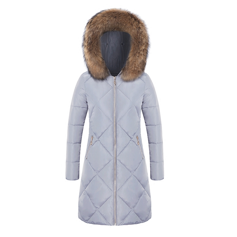 FTLZZ 2017 Winter Jacket Women Cotton Padded Slim Hooded Parkas Hair Collar Medium Long Jacket Wadded Coat /jacket Big Collar ftlzz new women winter jacket cotton coat slim large fur collar hooded parkas padded warm thickness medium long black overcoat