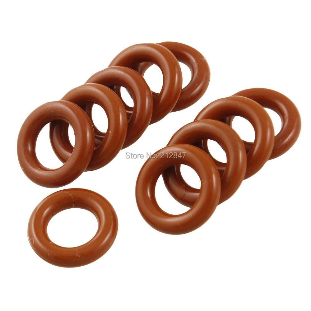 10 Pcs Brick Red Flexible Silicone O Ring Seal Washer 8mm x 14mm x 3mm o ring for eheim 2213 and 2013 canister filters red