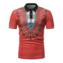 Best Selling African Style Short-Sleeved T-shirt Lapel White Red Men's Bottoming Polo Shirts african shirt men moda africana(China)