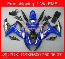 Motorcycle parts GSXR600 750 06-07 GSXR750 06 07 GSXR 600 2006 2007 2006-2007 Blue Fairing kit 2244