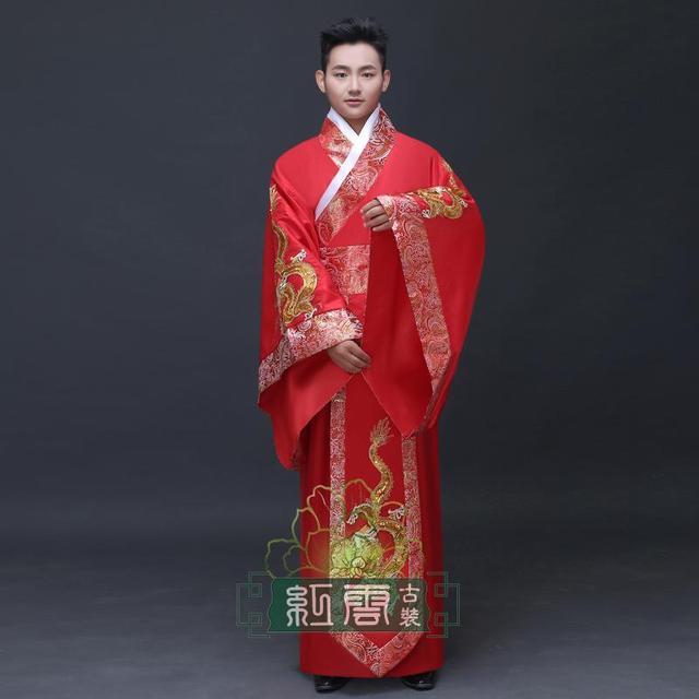 Estilo tradicional chino hanfu hanfu dinastía tang princesa real novia de la boda casado conjunto Hombre-mujer