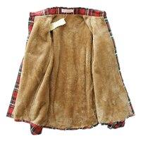Women Tops Blusa Camisa Femininas Autumn Winter Warm Cotton Long Sleeved Thick Velvet Women Blouses Plaid