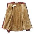 Mulheres Encabeça Blusa Camisa Femininas Outono inverno quente algodão longo-mulheres blusas camisas de flanela xadrez de mangas compridas de veludo grosso Z2124
