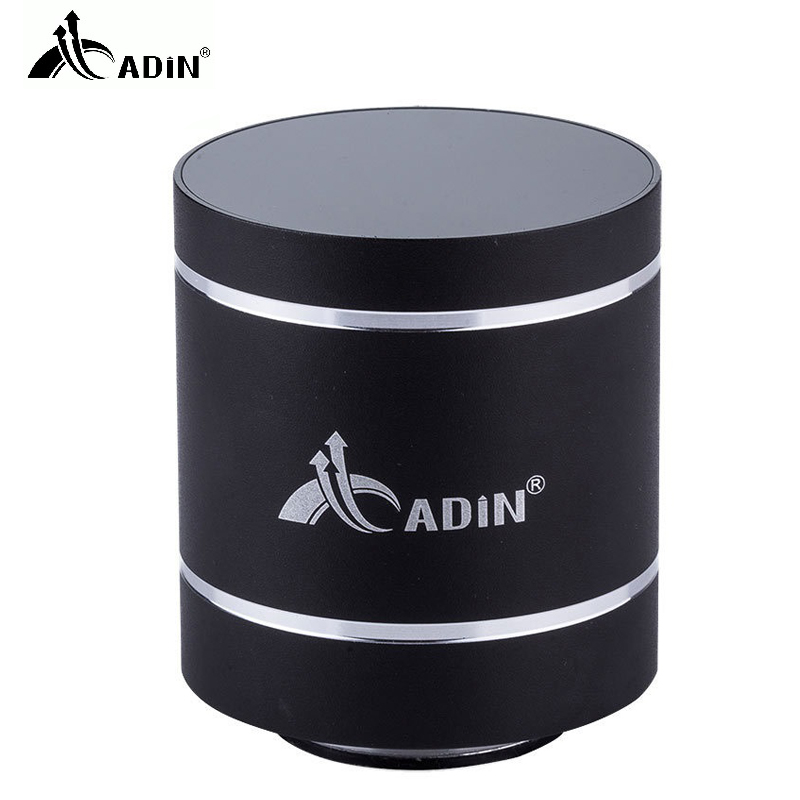 ADIN Mini Metal 10W Bluetooth Vibration Speaker Handsfree Calls NFC HIFI Wireless Subwoofer 360 Stereo Bass Phone PC Loudspeaker adin 26w metal vibration bluetooth subwoofer speaker nfc touch hifi portable mini wireless speaker 360 stereo sound loudspeakers