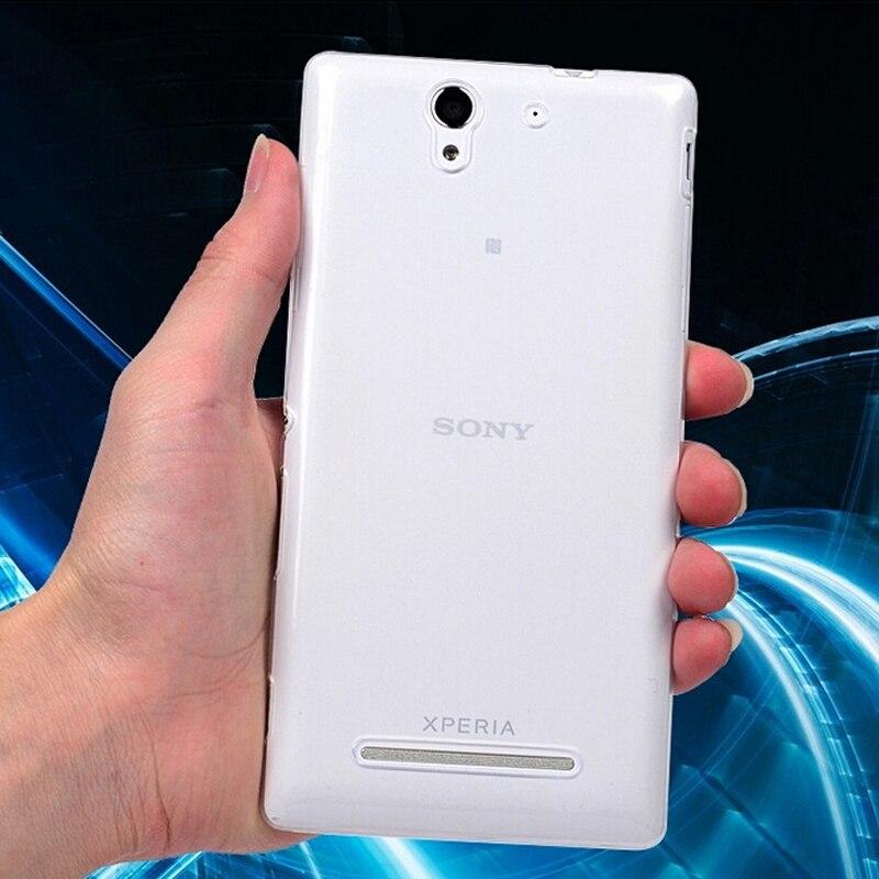0.3 мм Новый Прозрачный Ультра тонкий мягкий ТПУ Силиконовая сотовый телефон В виде ракушки задняя крышка кожи, чехол для Sony Xperia c4 случае e5333