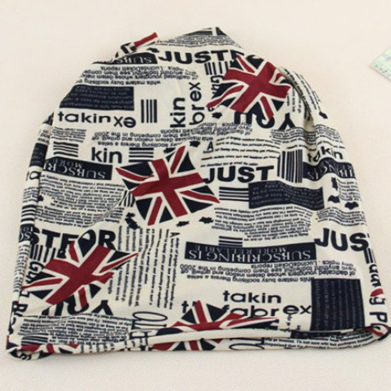 2017 New Fashion British Flag Knit Headwear Unisex Caps   Skullies     Beanies   Word Flag Hat Men Women Letter Printing Hop Hat Knitted