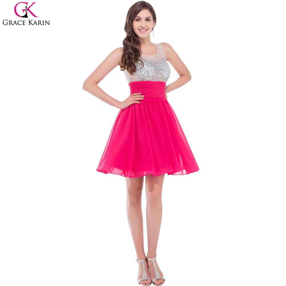 Grace karin kurze cocktailkleider 2016 neue frauen luxury pink blau ...