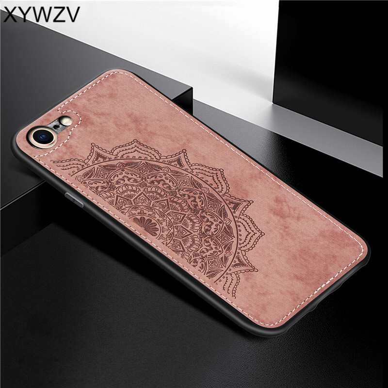 For Apple Iphone 7 8 Shockproof Soft TPU Silicone Cloth Texture Hard PC Phone Case For Apple Iphone 7 8 Cover For Iphone 7 8 in Fitted Cases from Cellphones Telecommunications