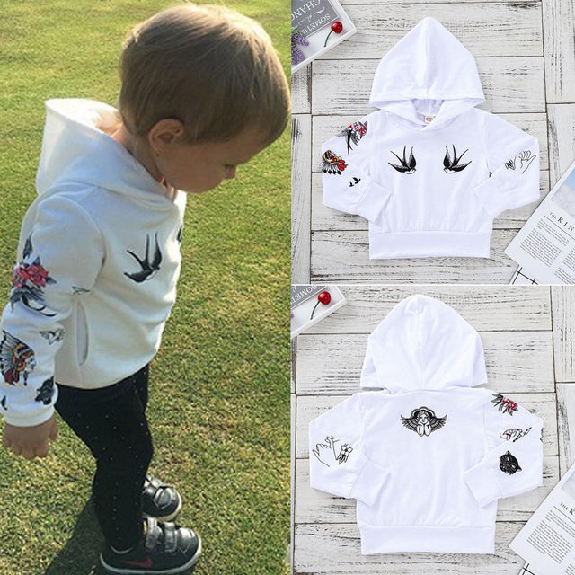 b24f80c7f 2018 Multitrust Brand Fashion Infant Newborn Kid Baby Boy Girl Hoodie Anime  White Cotton Cartoon Print Top Autumn T Shirt