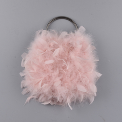 New Woman 100% Turkey fur  bags Lovely Handbag high quality Lady  bag Evening bag