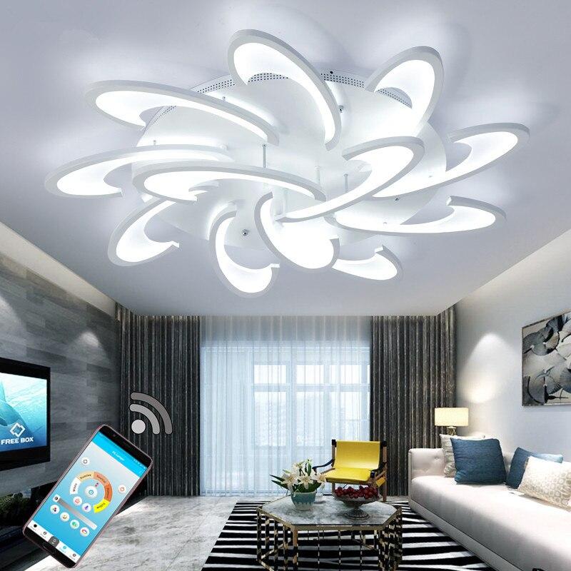 Lustre led moderne avec télécommande lumières acryliques
