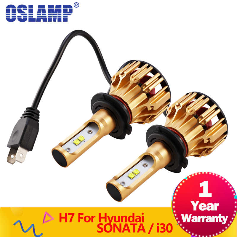 Oslamp T6  Series LED Headlights H7 Low Beam 70W SMD Chips 7000LM 6500K headlamp LED Headlight Bulbs for Hyundai SONATA/i30