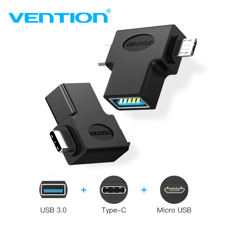 Vention Type C USB Adapter USB 3.0 OTG Adapter Cable 2 In 1 Micro USB OTG Converter For Xiaomi One Plus Nexus 6P