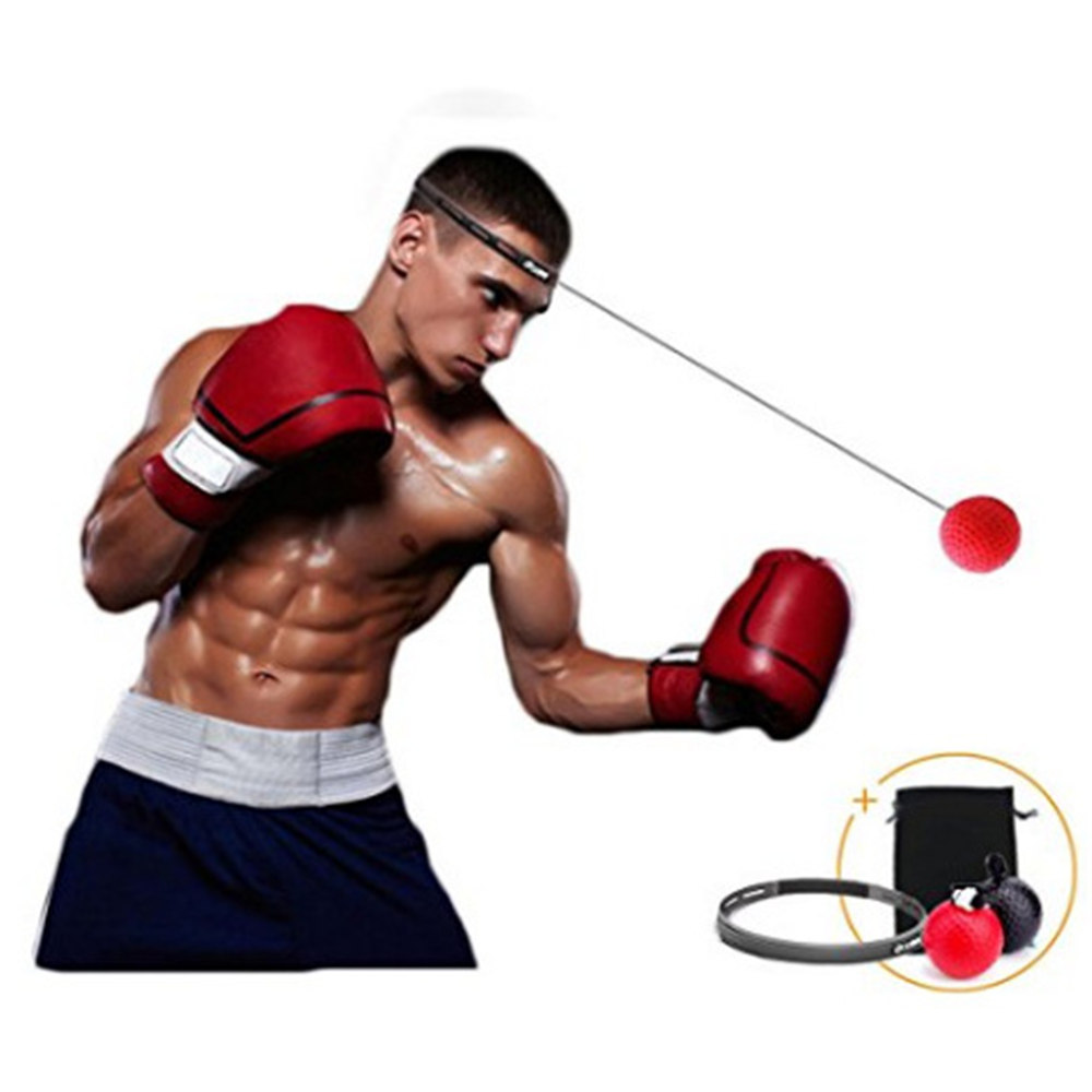Punch Exercise Fight Ball With Head Band For Reflex Speed Training Boxing UK