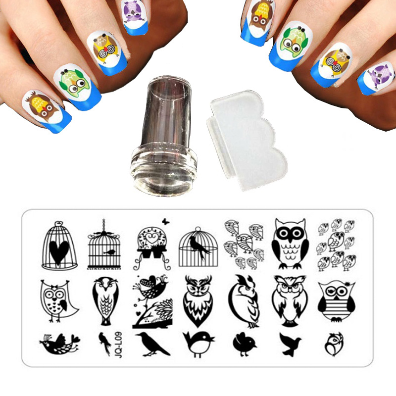 20 Style 12 X 6cm Fashion Nail Design Stencils For Nails