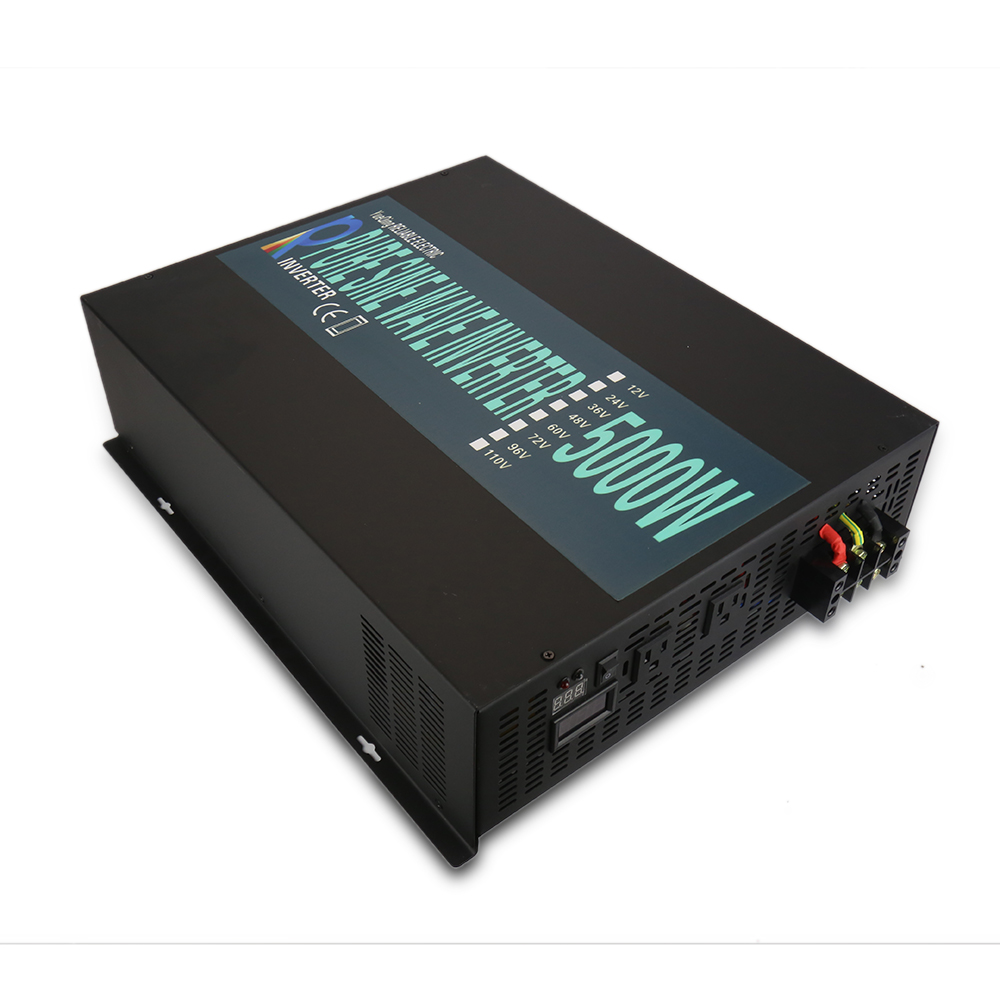 цена на 10000W Peak 5000W Pure Sine Wave Solar Inverter 24V 230V Solar Panel Inverter Voltage Regulator 12V/48V DC to 110V/120V/220V AC