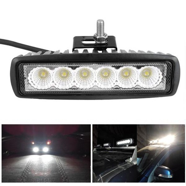 w led flood trabalho leve atv off road luz de nevoeiro luz de conduo barra