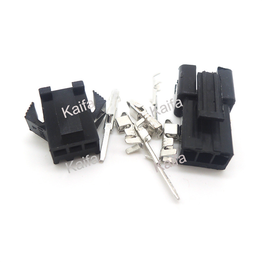 50 sets el 15p small tamiya electronic connector 4 5mm spacing el 4 5 15p multipole connectors male and femal plug terminals 50 Sets JST 2.54mm SM 3-Pin 3 Way Multipole Connector plug With ternimal male and female