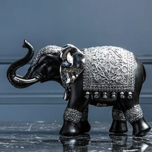 Creative lucky elephant living room crafts ornaments Model home TV cabinet home wine cabinet decorations small furnishings nordic style hourglass timer decorative ornaments tv cabinet wine cabinet desk creative home accessories gifts crafts