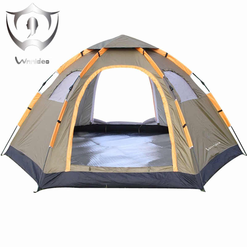 Instant Family Tent - 6 Person Large Automatic Pop Up Waterproof for Outdoor Sports Camping Hiking Travel Beach Tents barraca. outdoor double layer 10 14 persons camping holiday arbor tent sun canopy canopy tent