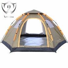 Растворимый Палатки 6 Человек Большая Автоматическая Pop Up водонепроницаемый для Спорта На Открытом Воздухе Отдых Туризм Путешествия Пляж палатка