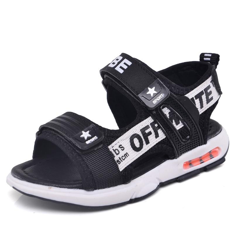 Fashion 2018 Sandals Kids Summer Boys Beach Water Shoes Breathable Leather Toddler Baby Children Flat Little Sandalia Infantil
