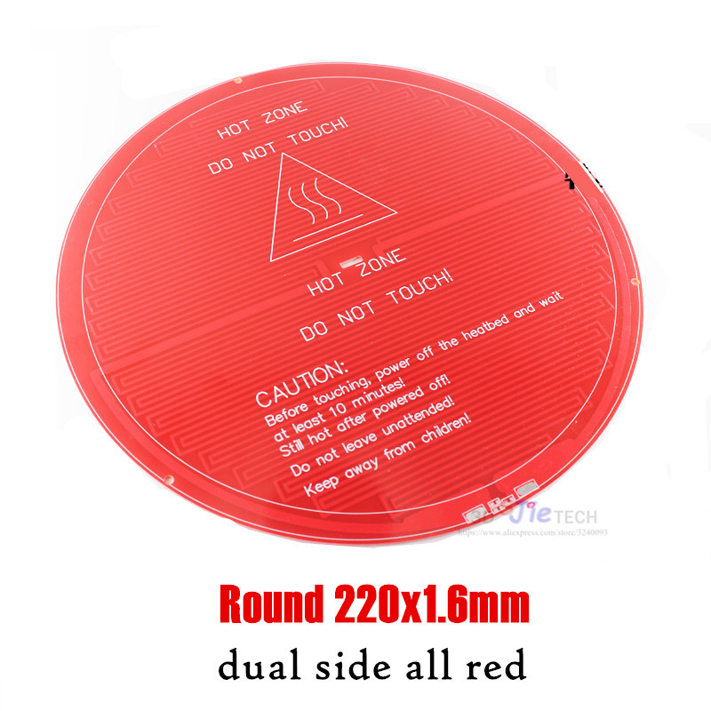 Computer & Office Swmaker 3pcs 220mm Round 3d Printing Build Surface 220mm Diameter Round Black For Delta Kossel 3d Printer Heated Bed Office Electronics