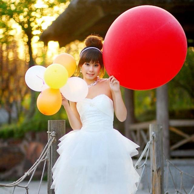 free shipping Extra large flat ball birthday decoration married balloon latex blastoff balloon