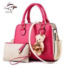 2017 mode Neue Frauen Tasche Original Marke Handtasche Patchwork Lackleder Taschen Umhängetasche Lässig Crossbody Kupplung Tote Marke
