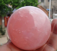 Free Shipping Natural Pink Rose Quartz Magic Crystal Healing Ball Sphere 55 60MM + Stand *