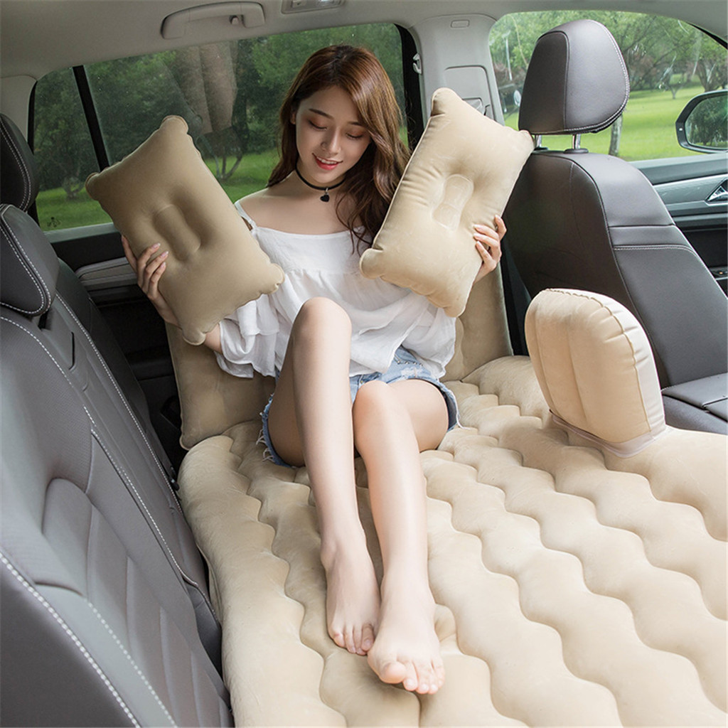 Car Travel Bed Bed Air Mattress Inflatable Mattress Inflatable Air Bed Inflatable Sofa Car Seat Cover Cushion Sleep Rest Mat image