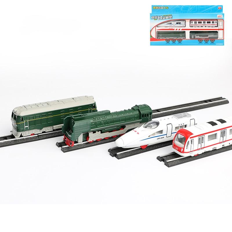 4 en 1 véhicules Train modèle jouets télécommandés Simulation Train à vapeur modèle planant Train à grande vitesse Trainset amis des enfants