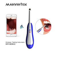 MARVIOTEK WiFi Endoscope Wireless HD Camera Dental LED Light Monitoring Inspection for Dentist Oral Real time Video Dental Tools