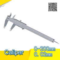 SHAHE 0 200 mm stainless steel calipers scale caliper 200mm