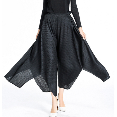 608e4ee0b8a Livraison-gratuite-Miyake-neuf-points-mode-pli-noir -pantalon-jambes-larges-irr-guli-re-en-STOCK.jpg
