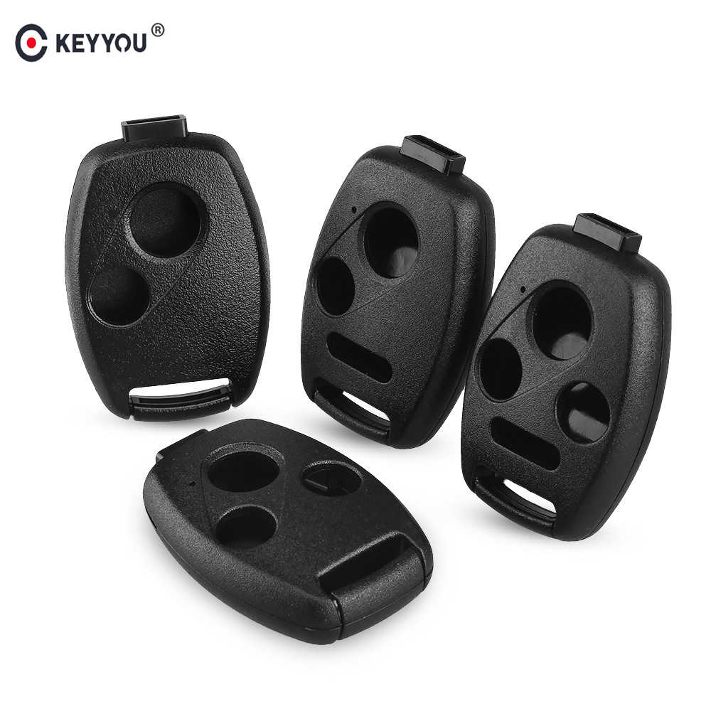 KEYYOU Remote Key Case Shell Fob Voor HONDA Accord Civic CRV Pilot 2007 2008 2009 2010 2011 2012 2013 2 /3/2 + 1/3 + 1 knoppen