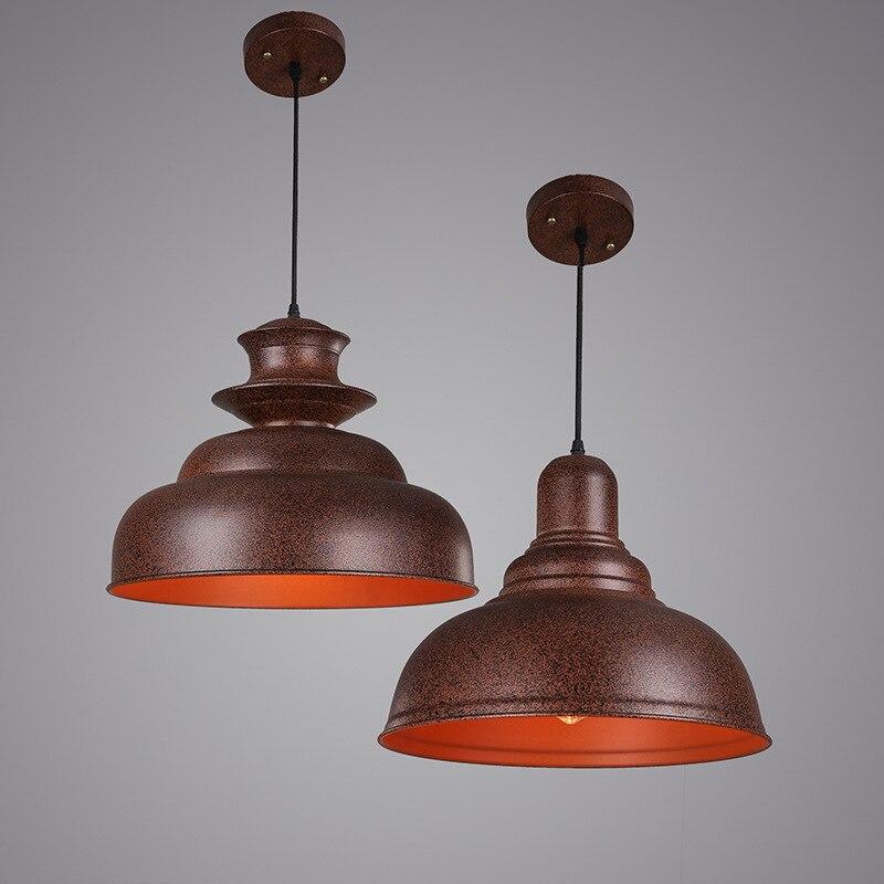 ᗐVintage loft antiguo Lámparas colgantes hierro forjado retro ...